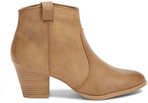 Forever21 Forever 21 Faux Leather Booties Taupe Boot