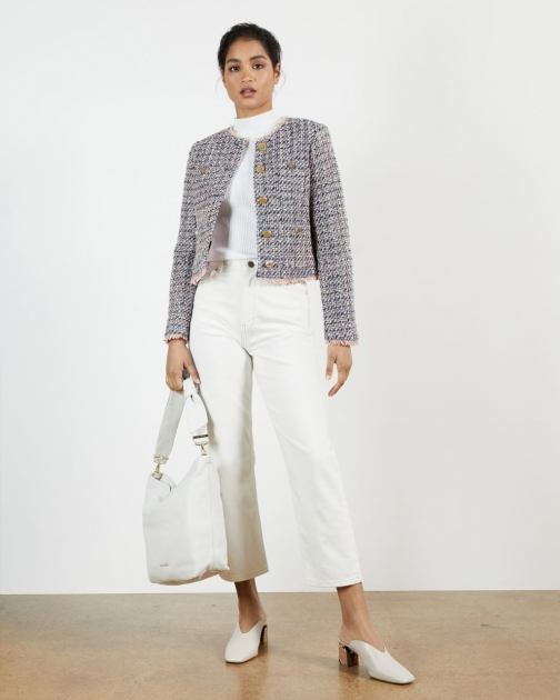 Ted Baker Bright Blue Boucle Jacket