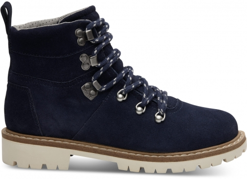 Toms Waterproof Navy Suede Women's Summit Boot