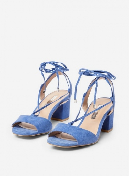 Dorothy Perkins Blue 'Sansa' Lace Up Mules Shoes