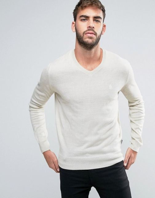 French Connection V Neck Knitted Jumper