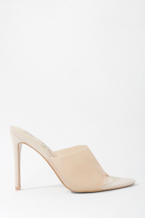 Forever21 Forever 21 Faux Suede Vinyl Stiletto Heels , Pink Shoes