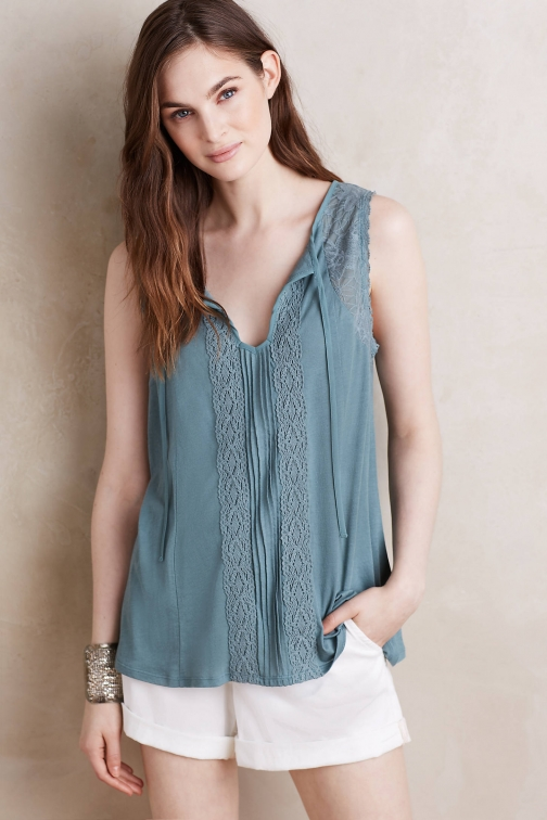 Anthropologie Yasmina Lace Detail Top