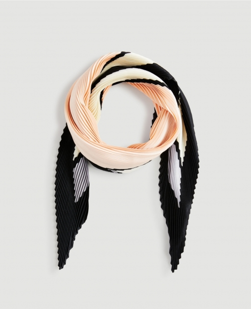 Ann Taylor Factory Pleated Square Scarf