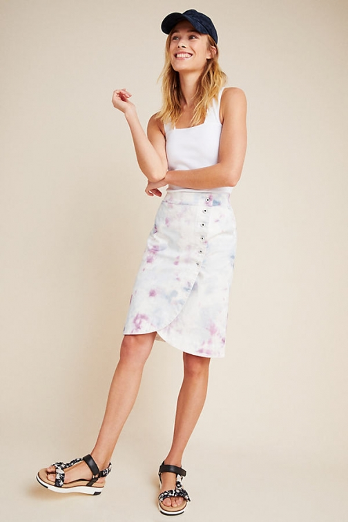 Anthropologie Kimmie Tie-Dyed Tulip Skirt