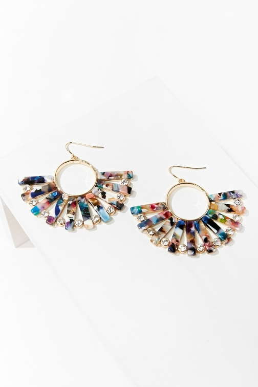Forever21 Forever 21 Marble Drop , Gold/multi Earring