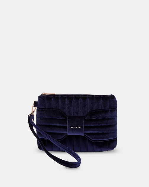 Ted Baker Quilted Bow Velvet Bag Clutch