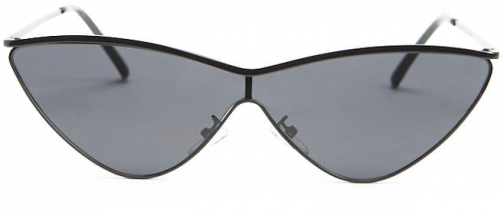 Forever21 Forever 21 Premium Mirrored Cat-Eye , Black Sunglasses