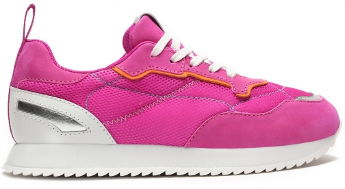 Schutz Shoes Penny Mixed Media Sneaker - 6 Pink NAPA Trainer