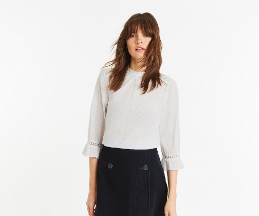 Oasis Dobby Cotton Prarie Top Shirt