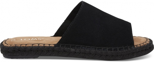 Toms TOMS Black Suede Women's Clarita Espadrilles Shoes - Size UK10 / US12 Espadrille