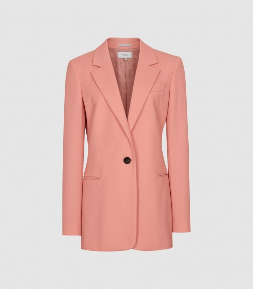 Reiss Phoenix - Single Breasted Apricot, Womens, Size 4 Blazer