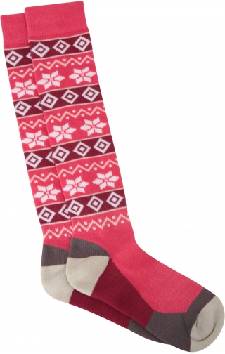 Mountain Warehouse Womens Patterned Ski - Pink Sock