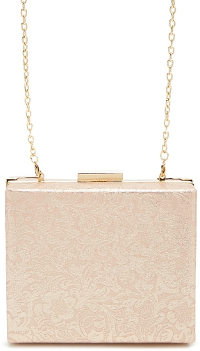 Forever21 Forever 21 Floral Box , Light Pink Clutch
