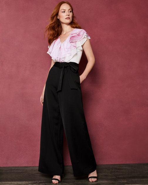 Ted Baker Angel Falls Frill Bodice Jumpsuit