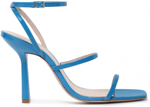 Schutz Shoes Nita Sandal - 6 Sport Blue Patent Leather Sandals