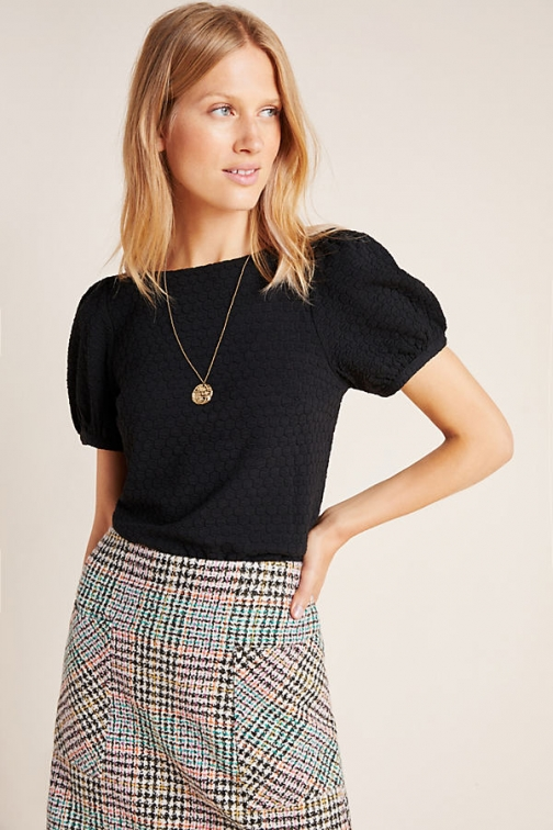 Anthropologie Parker Puff-Sleeved Top Shirt