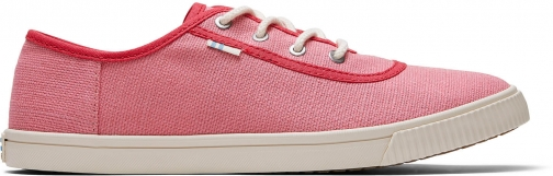 Toms Strawberry Milkshake Heritage Canvas Women's Carmel Sneakers Topanga Collection Shoes Trainer