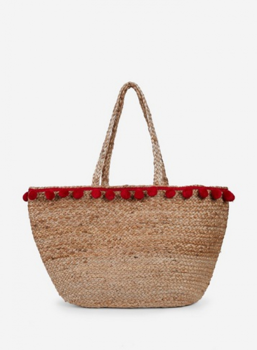 Pieces Natural 'Becka' Beach Bag