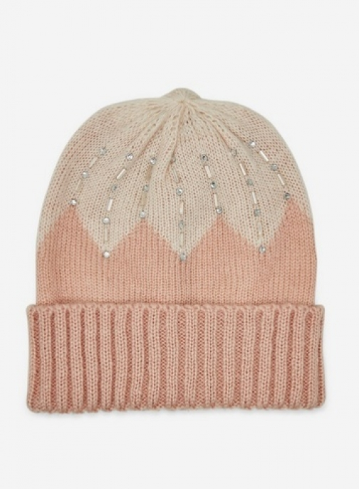 Dorothy Perkins Pink Beaded Beanie