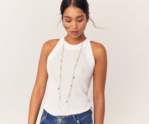 Oasis Long Pearl Necklace
