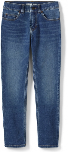 Lands' End Boys Iron Knee Straight Leg Ultra Soft - Lands' End - Blue - 2 Jeans