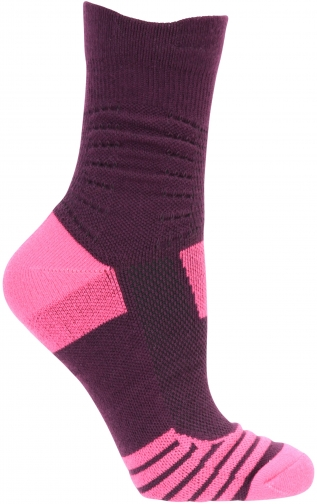 Mountain Warehouse Seamless Padded Womens Running Multipack - Pink Sock
