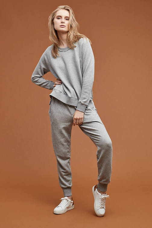 Anthropologie Cana Striped Joggers - Grey, Size Athletic Pant