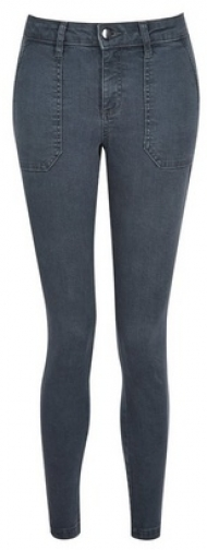 Dorothy Perkins Petite Charcoal Utility 'Darcy' Jeans