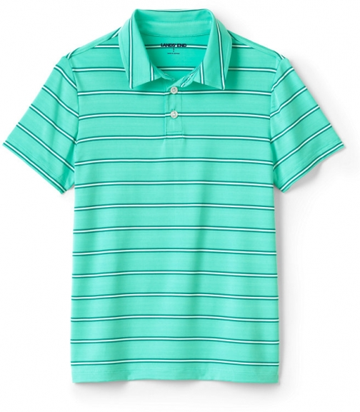 Lands' End Boys Performance Shirt - Lands' End - Green - S Polo