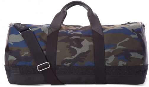 Toms Green Camo Herringbone Adventurer Duffel Bag