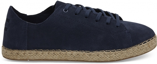 Toms TOMS Navy Suede Women's Lena Espadrilles Shoes - Size UK8 / US10 Espadrille