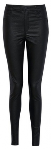 Dorothy Perkins Tall Black 'Frankie' Coated Jeans