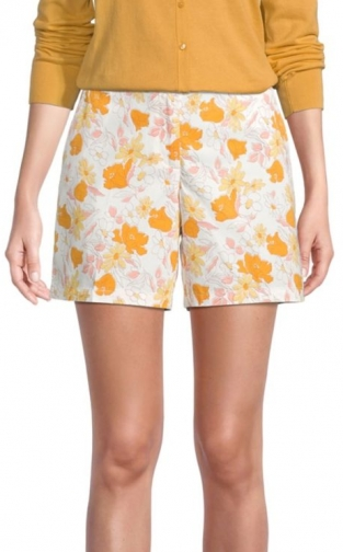 Loft Floral With 6 Inch Inseam Short