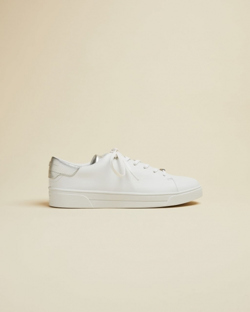 Ted Baker Metallic Detail Leather Trainer