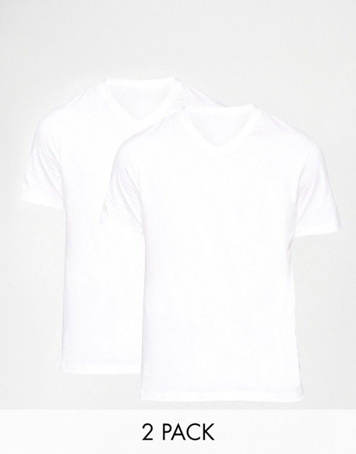 Boss By Hugo Boss V Neck Two Pack Regular Fit T-Shirt
