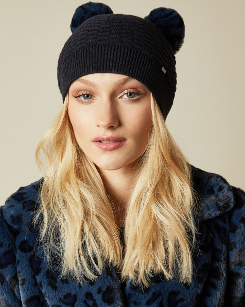 Ted Baker Double Pom Stitch Hat
