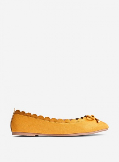 Dorothy Perkins Wide Fit Yellow 'Pia' Pumps