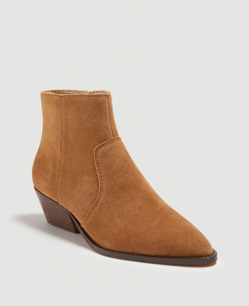 Ann Taylor Ophera Suede Flat Booties Boot