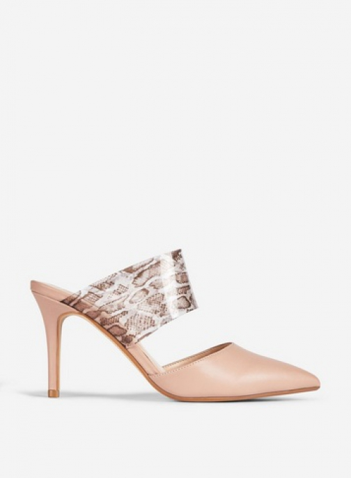 Dorothy Perkins Nude 'Dixie' Mules