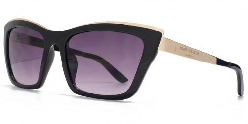Kurt Geiger 26KGL036 Black Cateye Sunglasses