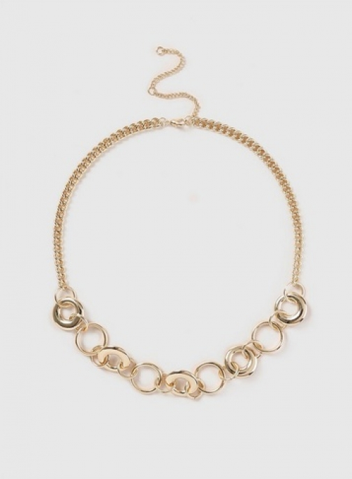 Dorothy Perkins Womens Gold Look Chunky Link Chain - Gold, Gold Necklace