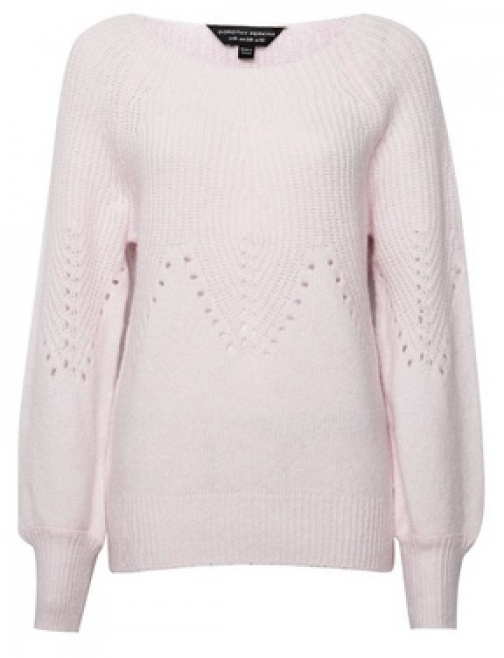 Dorothy Perkins Blush Pointelle With Recycled Yarns Jumper