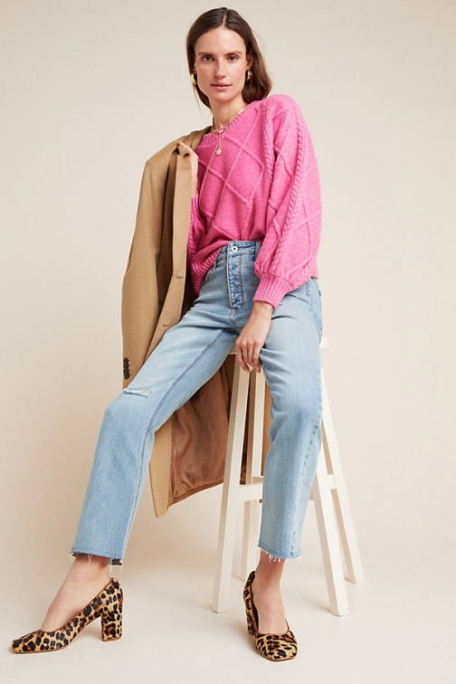 Pilcro And The Letterpress Pilcro High-Rise Relaxed-Straight Jeans