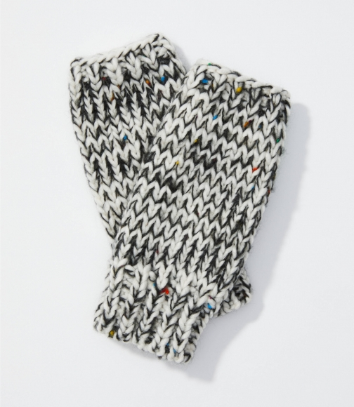 Loft Marled Cable Fingerless Glove