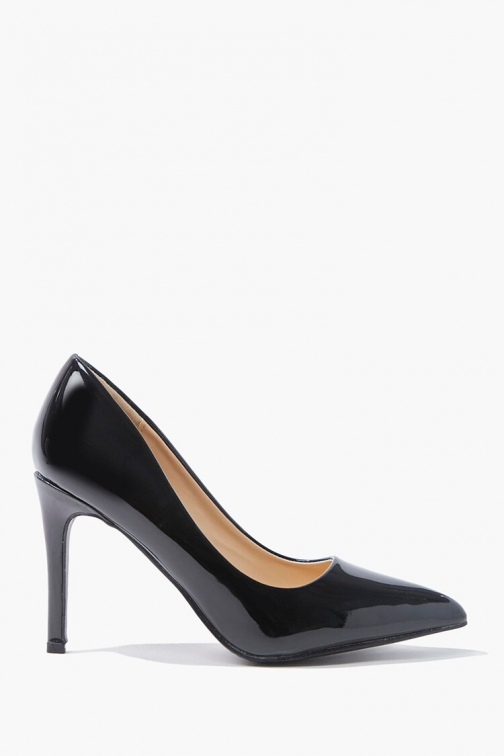 Forever21 Forever 21 Faux Patent Leather , Black Pumps