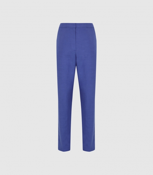 Reiss Haya Trouser - Slim Fit Cobalt, Womens, Size 4 Tailored Trouser