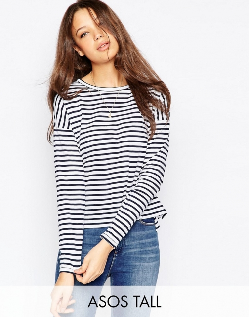 Asos Tall TALL Long Sleeve Stripe Top