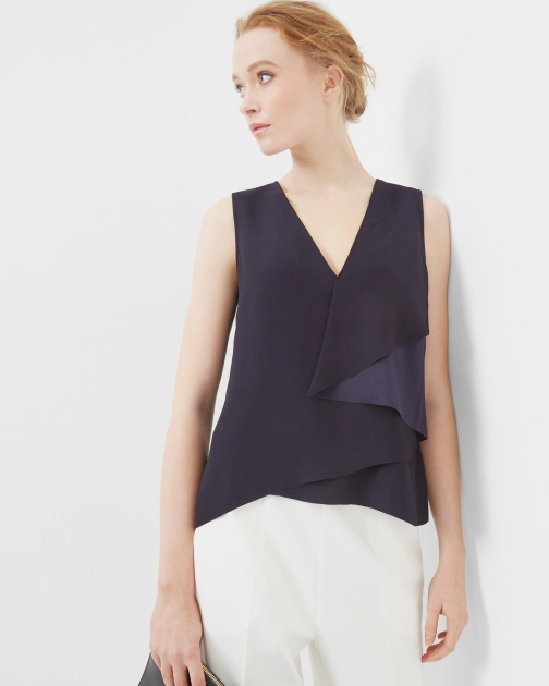 Ted Baker Asymmetric Fold Top Shirt