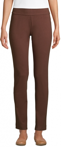 Lands' End Women's Starfish Mid Rise Slim Leg Elastic Waist Pull On Pants - Lands' End - Brown - XS Trouser